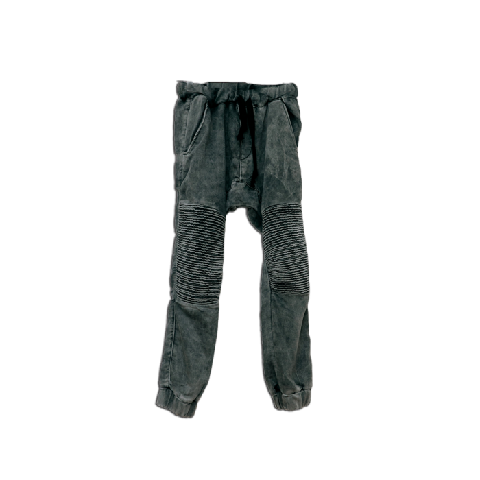 Boys Drop Crotch Joggers with Biker Knee Grey ( 9-15yrs)