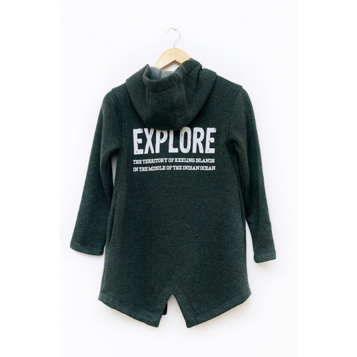 Kids open front Hooded junior grey Sweater cardigan