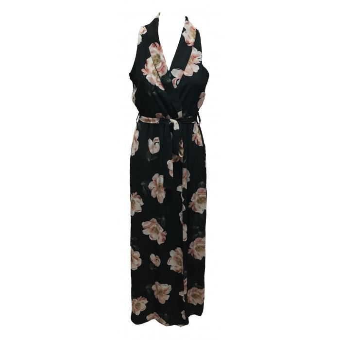 Women's sleeveless summer floral maxi dress