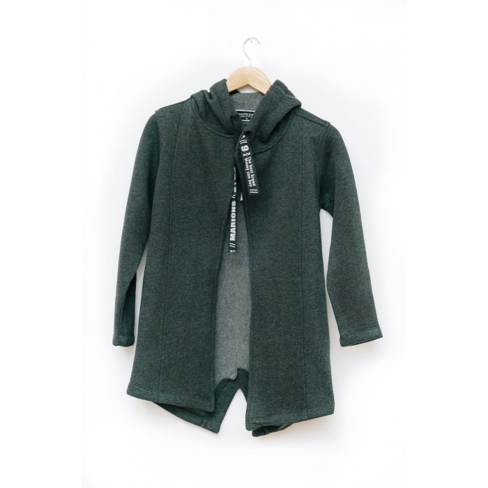 Boys open front Hooded junior grey Sweater cardigan (9-15yrs)